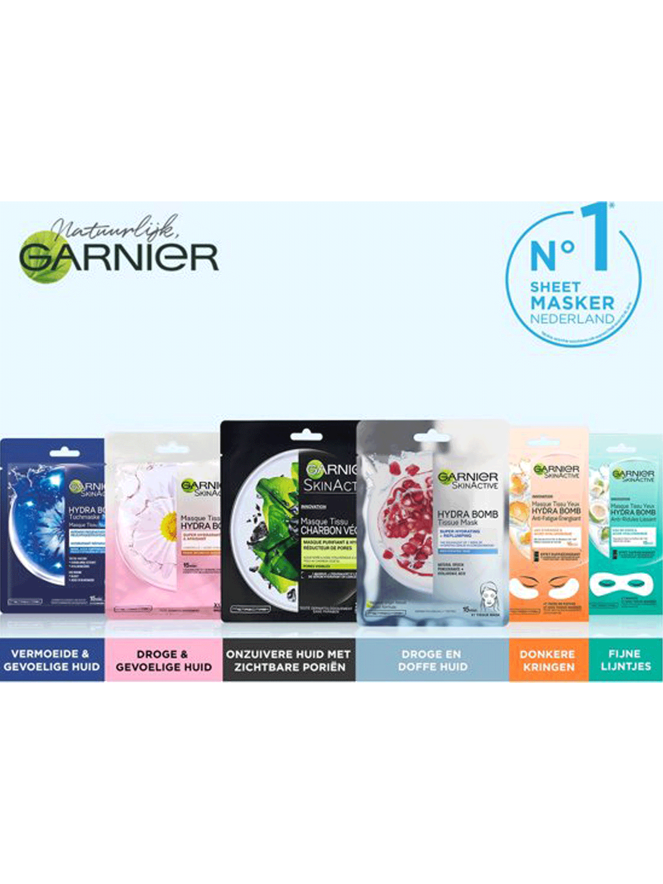 Assortiment Garnier Sheet Mask